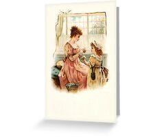 Victorian Daisy Chain Greeting Card