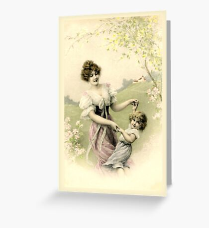 Victorian Spring Time Dance Greeting Card
