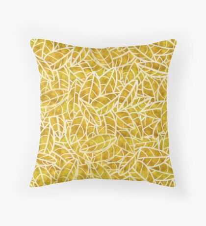 Sketchy Palms in Golden Years Throw Pillow