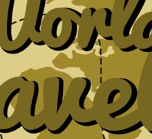 World Traveler Sticker