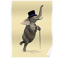Tap Dancing Elephant Poster