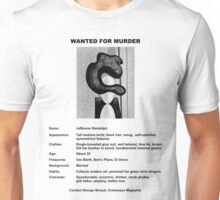 Wanted: Jefferson Randolph (light background) Unisex T-Shirt