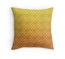 Mermaid Scales in Sunset Flames Throw Pillow