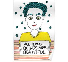 All Human Beings Are Beautiful Poster
