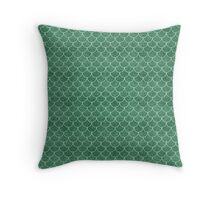 Green Mermaid Scales Throw Pillow