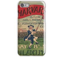 Artist Posters Harvard twelfth annual meeting the Associated Harvard clubs May 8th and 9th Philadelphia 0770 iPhone Case/Skin