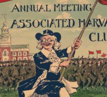 Artist Posters Harvard twelfth annual meeting the Associated Harvard clubs May 8th and 9th Philadelphia 0770 Sticker