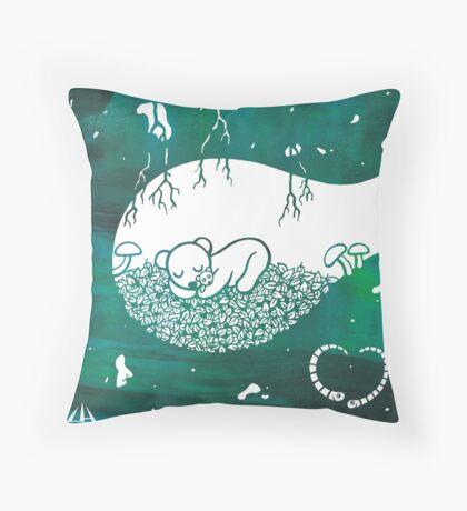Little Sleeping Bear Throw Pillow