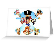 One Piece - Straw hat pirates Greeting Card