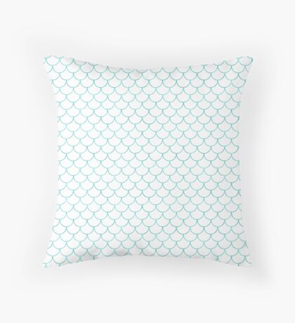 Mermaid Scales in Sea Breeze Throw Pillow
