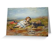 William McTaggart - Playmates, Gracie Greeting Card