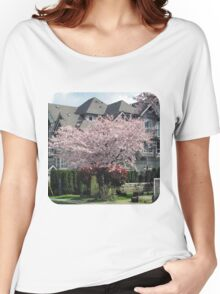 Cherry Tree in Bloom Women's Relaxed Fit T-Shirt