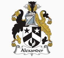 Alexander Coat of Arms / Alexander Family Crest Kids Tee