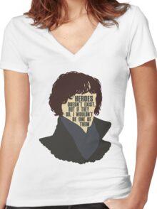 Sherlock 1 Women's Fitted V-Neck T-Shirt