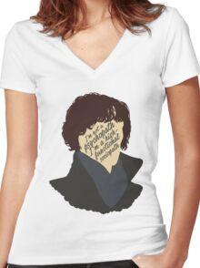 Sherlock 2 Women's Fitted V-Neck T-Shirt