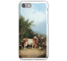 William Shayer Senior - A By-lane in the New Forest iPhone Case/Skin