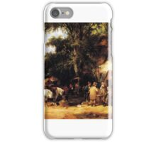 William Shayer Senior - At the Bell Inn, Cadnam, New Forest iPhone Case/Skin