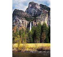 Bridlevail Falls in Yosemite Valley Photographic Print
