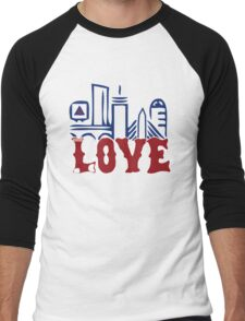 Love Boston Red Sox - Boston Skyline Men's Baseball ¾ T-Shirt