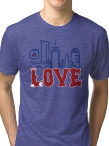Love Boston Red Sox - Boston Skyline Tri-blend T-Shirt