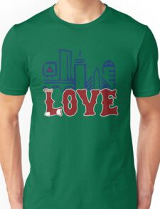 Love Boston Red Sox - Boston Skyline Unisex T-Shirt