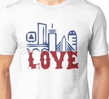 Love Boston Red Sox - Boston Skyline Unisex T-Shirt