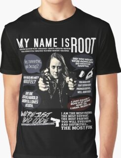 Root - Person of interest - Amy Acker Graphic T-Shirt