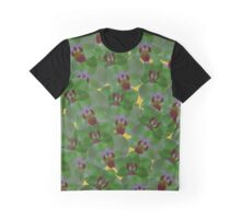 Orchids Green Graphic T-Shirt