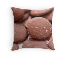 Chocolate Buttons Throw Pillow