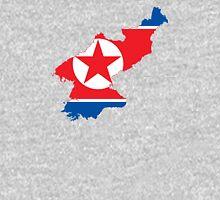 Flag Map of North Korea  Unisex T-Shirt