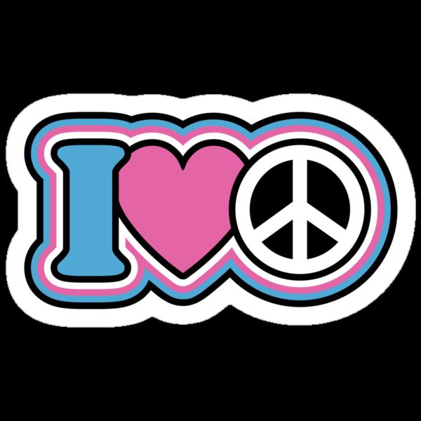 I Love Peace by Lisann
