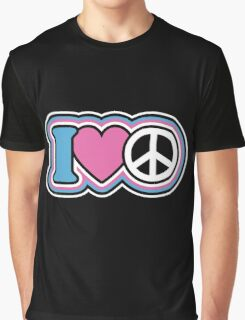 I Love Peace Graphic T-Shirt