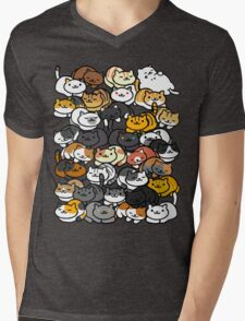 Neko Atsume Sleepy Kitties Mens V-Neck T-Shirt