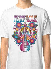 Peace, Love and Music Classic T-Shirt