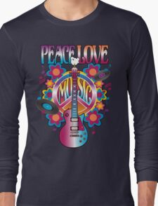Peace, Love and Music Long Sleeve T-Shirt