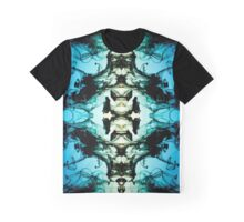 Mirrored Water Green and Blue Graphic T-Shirt