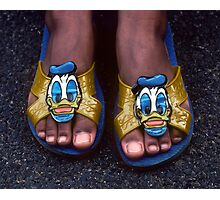 My Donald Duck Sandals Photographic Print