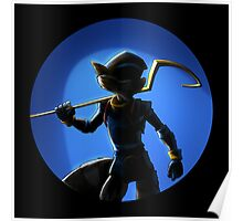 sly cooper full black Poster