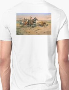 American, Cowboy, The Herd Quitter, Painting by C.M. Russell Unisex T-Shirt