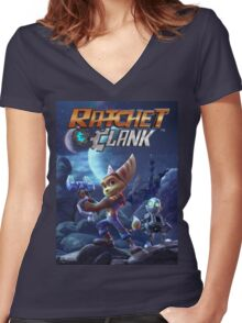 ratchet clank 2016 ori Women's Fitted V-Neck T-Shirt