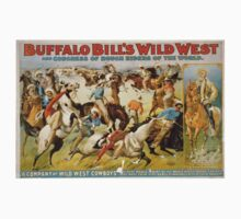 Buffalo Bill's, Wild West, Wild Bill, Congress of Rough Riders of the World, Circus poster One Piece - Long Sleeve