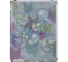 Bubbles, and butterflies iPad Case/Skin