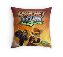 ratchet clank all 4 one Throw Pillow