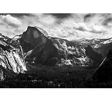 Half Dome black and white Photographic Print