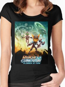 ratchet clank in the time Women's Fitted Scoop T-Shirt