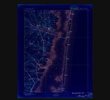 USGS TOPO Map New Jersey NJ Barnegat 255106 1888 62500 Inverted Unisex T-Shirt