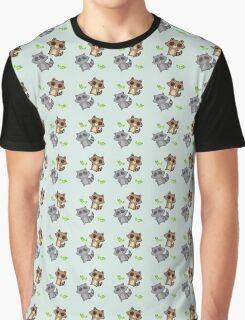 Raccoon Pattern Graphic T-Shirt
