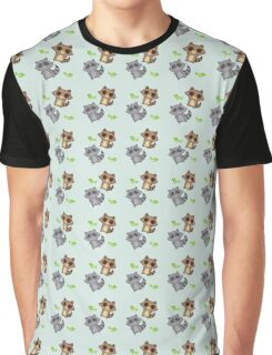Raccoon Pattern Graphic T-Shirt