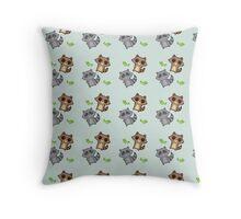 Raccoon Pattern Throw Pillow