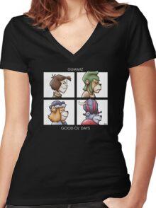 Good Ol' Days Women's Fitted V-Neck T-Shirt